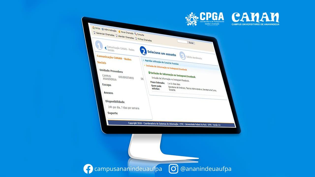 Divulgação nas redes sociais do Campus Universitário de Ananindeua (CANAN - UFPA) pelo SAGITTA - CANAN/UFPA