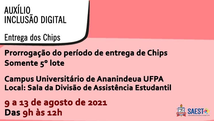 COMUNICADO - DAEST/CANAN  ENTREGA DE CHIPS - 5º LOTE
